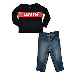 Boys' Infant Levi's® Long-Sleeve T-Shirt and Jeans Set