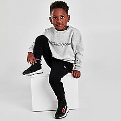 Boys' Toddler and Little Kids' Champion Script Crewneck Sweatshirt and Jogger Pants Set
