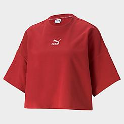 Women's Puma Classics Raw Edge Crewneck Sweatshirt