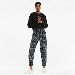 Women's Puma Floral Allover Print Jogger Sweatpants