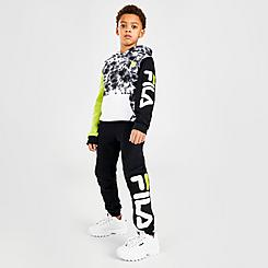 Boys' Little Kids' Fila Gian Tie-Dye Camo Fleece Pullover Hoodie and Jogger Pants Set