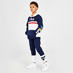 Boys' Little Kids' Fila Ansel Pullover Hoodie and Jogger Pants Set