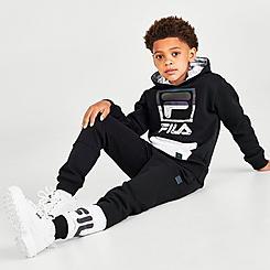 Little Kids' Fila Italia Pullover Hoodie and Jogger Pants Fleece Set