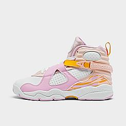 Girls' Big Kids' Air Jordan Retro 8 Basketball Shoes