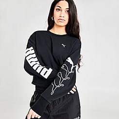 Women's Puma Rebel Crew Training Sweatshirt