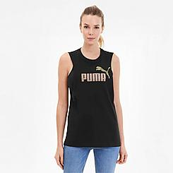 Women's Puma Essential+ Metallic Cut Off Tank