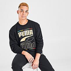Men's Puma Rebel Crew 5 Continent Crewneck Sweatshirt