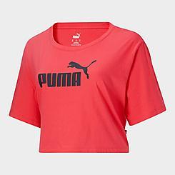 Women's Puma Essentials+ Cropped Logo T-Shirt (Plus Size)