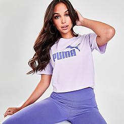 Women's Puma Essentials+ Cropped Logo T-Shirt