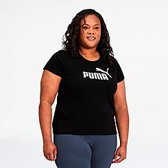 Women's Puma Essentials Logo T-Shirt (Plus Size)