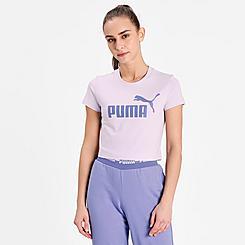 Women's Puma Essentials Slim Logo T-Shirt