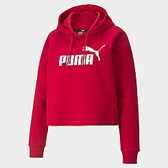 Women's Puma Essentials Cropped Logo Pullover Hoodie