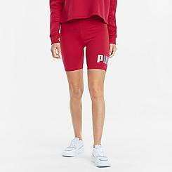 Women's Puma Essentials+ Metallic Bike Shorts