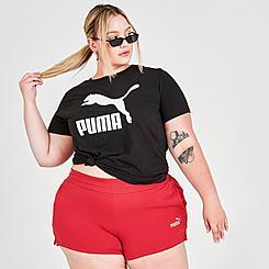 Women's Puma Essentials 4 Inch Sweat Shorts (Plus Size)