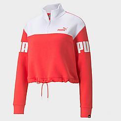 Women's Puma Power Half-Zip Fleece Crop Sweatshirt