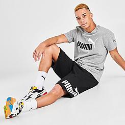 Men's Puma Big Logo Fleece Shorts