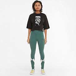 Women's Puma International Graphic High Rise Leggings