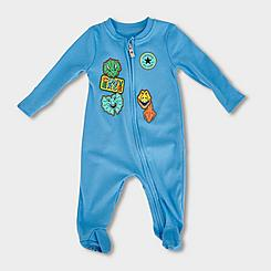 Infant Converse Faux Patches Coverall Onesie