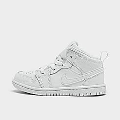 Kids' Toddler Air Jordan Retro 1 Mid Casual Shoes