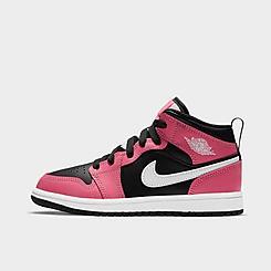 Girls' Little Kids' Air Jordan Retro 1 Mid Casual Shoes