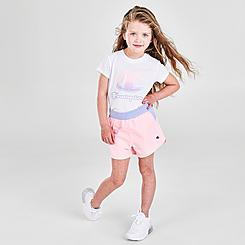 Girls' Toddler and Little Kids' Champion Ombre C Script T-Shirt and Shorts Set