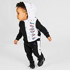 Boys' Infant Jordan Space Glitch Colorblock Pullover Hoodie and Jogger Pants Set
