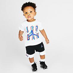 Boys' Infant Jordan Space Glitch Jumpman T-Shirt and Shorts Set