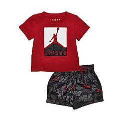 Boys' Infant Jordan Boxed Logo T-Shirt and AOP Doodle Print Shorts Set