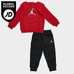 Boys' Infant Jordan Jumpman Fleece Crewneck Sweatshirt and Jogger Pants Set