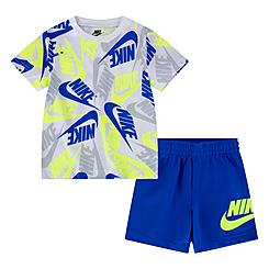 Boys' Infant Nike Sportswear Futura Toss Allover Print T-Shirt and Shorts Set