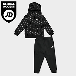 Infant Nike Allover Print Swoosh Hoodie and Jogger Pants Set
