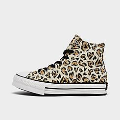 Girls' Big Kids' Converse Jungle Cats EVA Platform Chuck Taylor All Star Leopard Casual Shoes