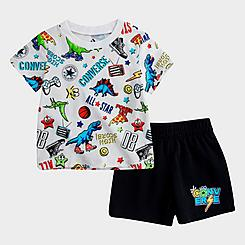 Boys' Infant Converse Gaming Allover Print T-Shirt and Shorts Set