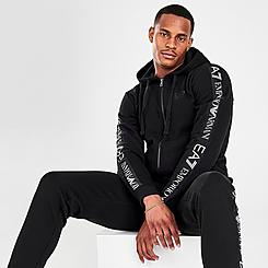Men's EA7 Emporio Armani Taped Full-Zip Hoodie