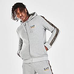 Men's EA7 Emporio Armani Side Tape Full-Zip Hoodie