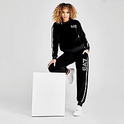 Women's EA7 Emporio Armani Full-Zip Hoodie and Joggers Track Suit
