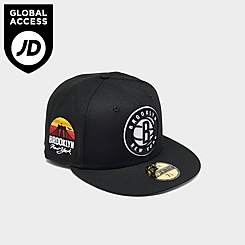 New Era Brooklyn Nets NBA Sun Side Patch 59FIFTY Fitted Hat
