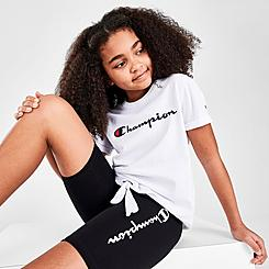 Girls' Champion Script Tie-Front T-Shirt