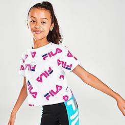 Girls' Fila Allover Logo Graphic T-Shirt