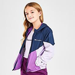 Girls' Champion Colorblock Windbreaker Jacket
