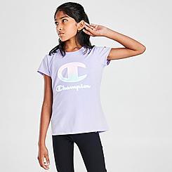 Girls' Champion Ombre C Script Logo T-Shirt