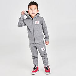Kids' Toddler Jordan Flight Essential Fleece Full-Zip Hoodie and Jogger Pants Set
