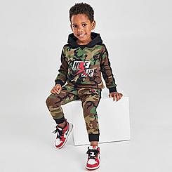 Boys' Toddler Jordan Jumpman Classics Camo Pullover Hoodie and Jogger Pants Set