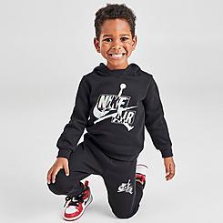 Boys' Toddler Jordan Jumpman Classics Iridescent Mashup Logo Pullover Hoodie and Jogger Pants Set