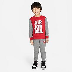 Boys' Toddler Jordan Jumpman Air Crewneck Sweatshirt and Jogger Pants Set