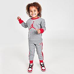 Boys' Toddler Jordan Jumpman Crewneck Sweatshirt and Jogger Pants Set
