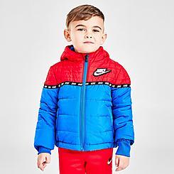 Boys' Toddler Nike Sportswear Taped Colorblock Puffer Jacket