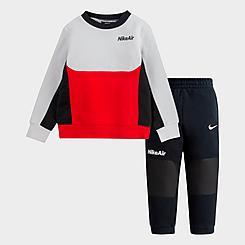 Boys' Toddler Nike Air Crew Sweatshirt and Jogger Pants Set