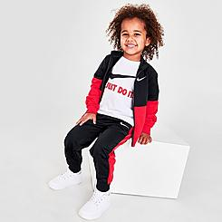 Boys' Toddler Nike Tricot 3-Piece Track Set and T-Shirt