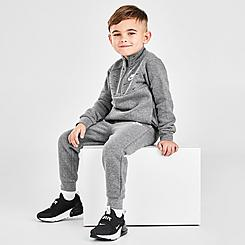Boys' Toddler Nike Allover Swoosh Print Fleece Half-Zip Pullover and Jogger Pants Set